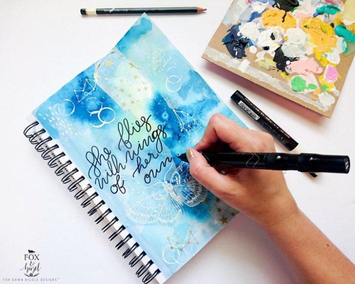 Butterfly-Art-Journal---Fox-and-Hazel2
