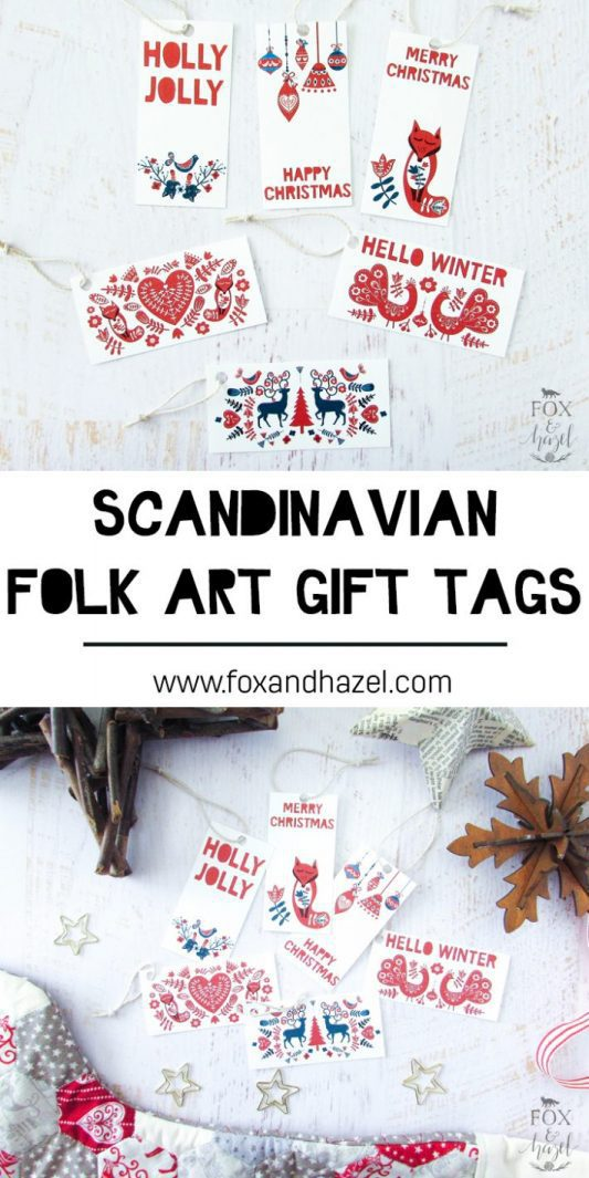 Free Scandinavian Christmas Gift Tags - Fox + Hazel