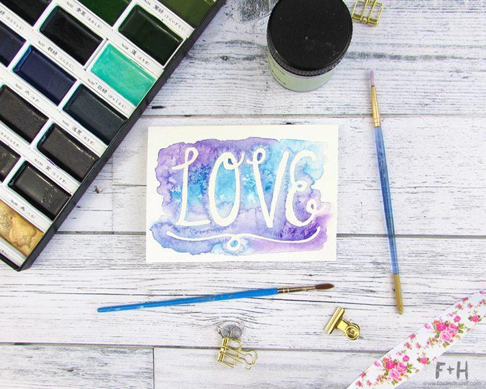 3 easy watercolor valentines cards-fox + hazel 2