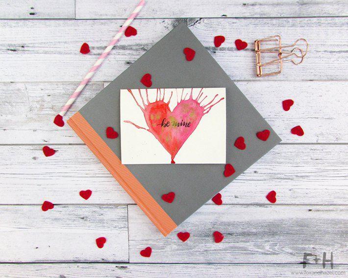3 easy watercolor valentines cards-fox + hazel 4