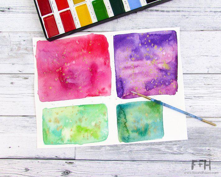 3 easy watercolor valentines cards-fox + hazel 6