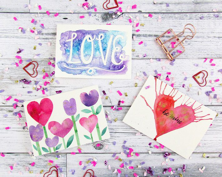 3 easy watercolor valentine cards-fox + hazel 9