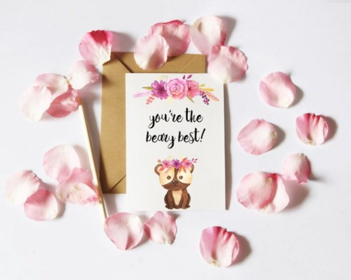 Free Bear Valentine's Day Card - Fox + Hazel
