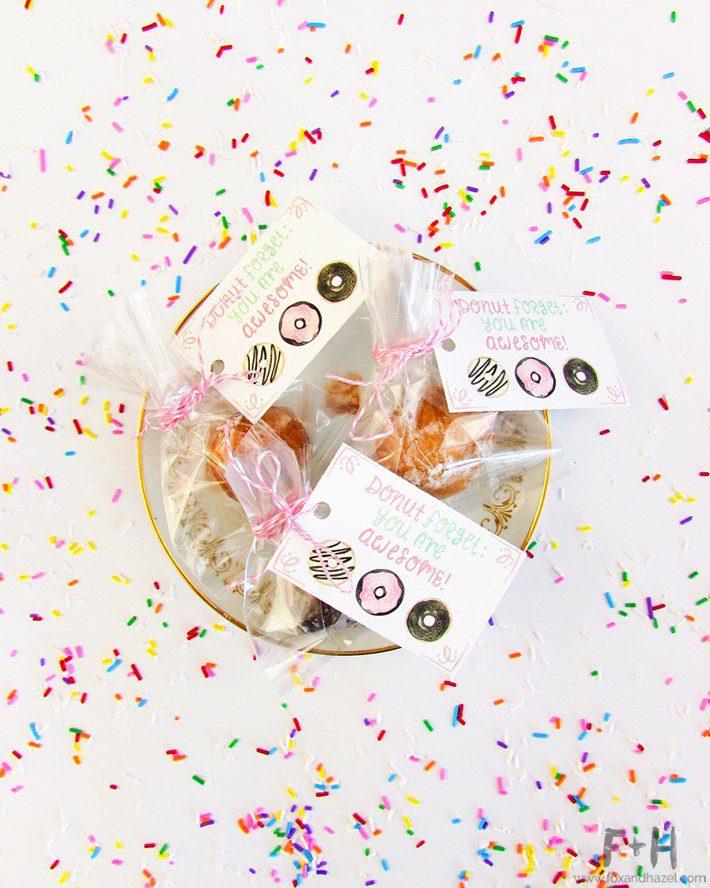 Free Donut Valentines Tags - Fox + Hazel