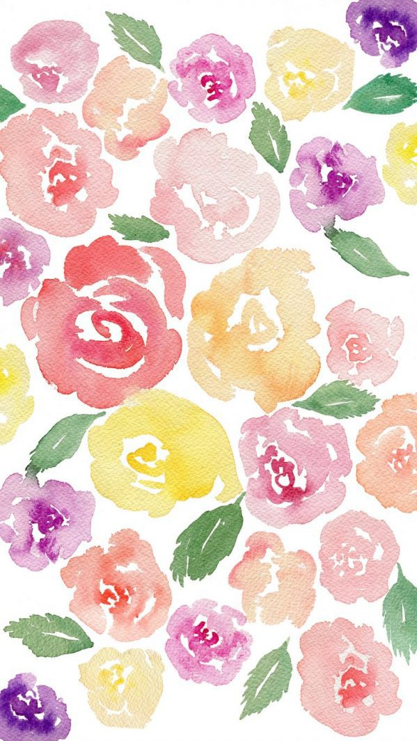 Free Beautiful Watercolor Floral Tech Wallpaper Fox Hazel