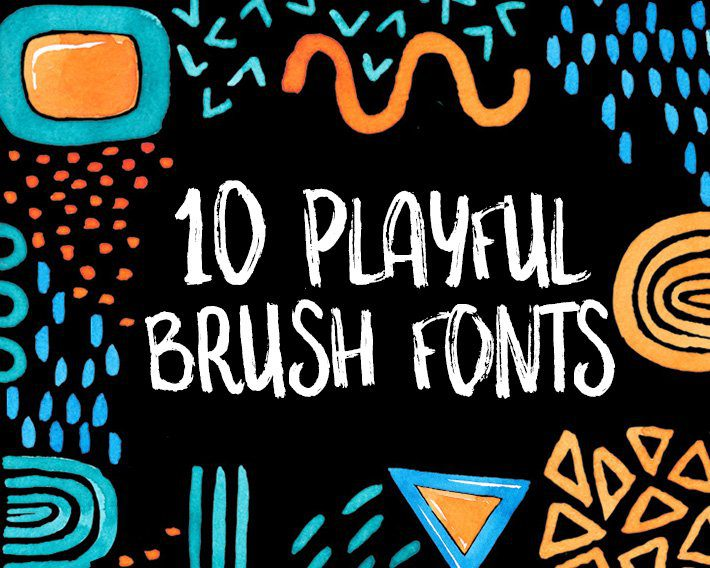 10 Playful Brush Fonts - Fox + Hazel