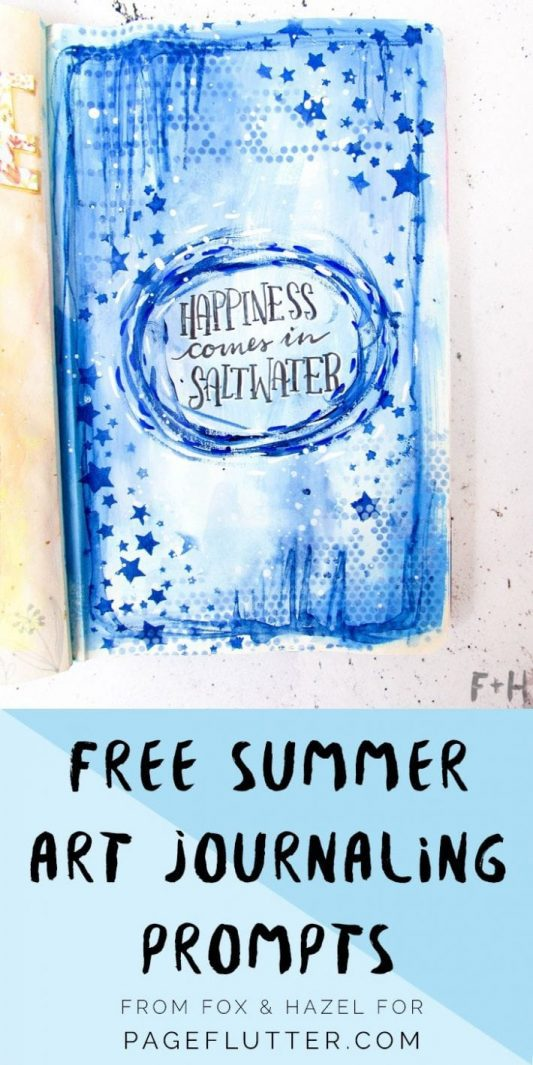 Summer Art Journaling Fox and Hazel - Pinterest