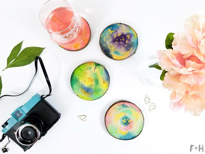 DIY-Watercolor-Wood-Slice-Coasters-10