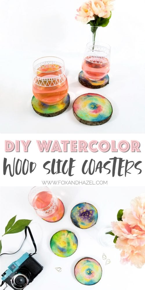 DIY-Watercolor-Wood-Slice-Coasters-Pinterest
