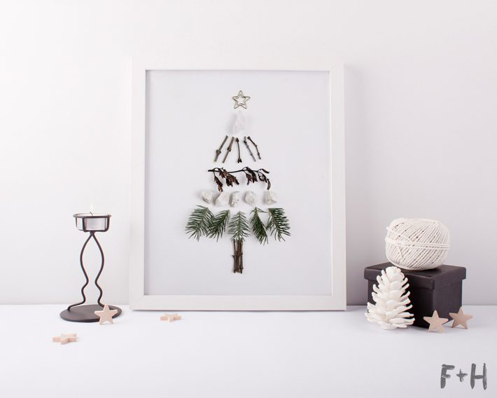 free natural christmas tree print