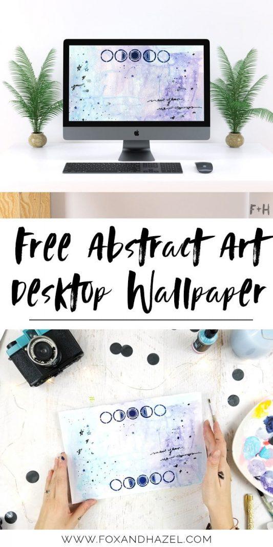 Abstract Art Desktop Wallpaper - Fox + Hazel