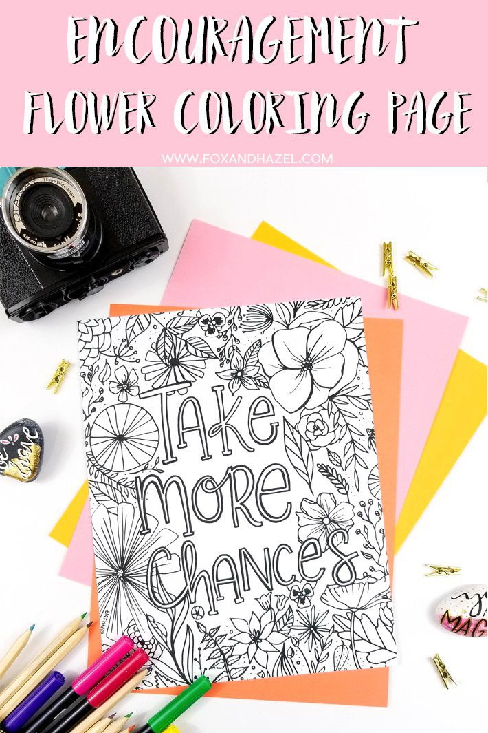 Do You Love Art Supplies Now Can Shop All My Favourite In One Place Check Them Out HERE Free Encouragement Flower Coloring Page