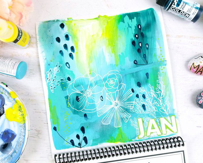 DIY-Calendar-Design--Mixed-Media---January-6