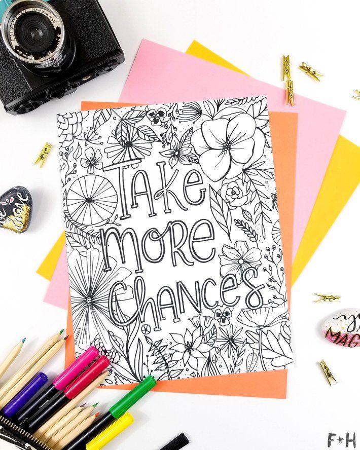 Flower-Coloring-Page-Printable-Fox + Hazel