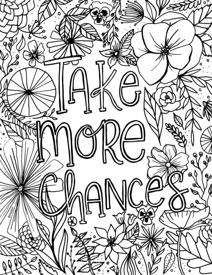 Free Encouragement Flower Coloring Page Printable | Fox + Hazel
