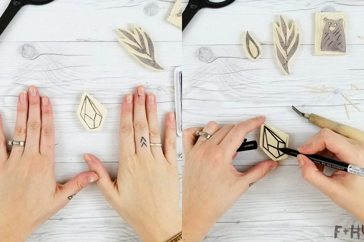 DIY Hand Carved Rubber Stamps - Fox + Hazel