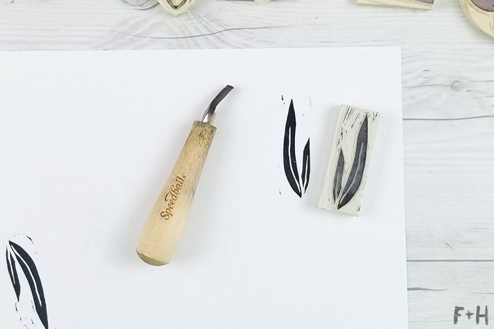 DIY Hand Carved Rubber Stamps - Stamp Carving - Fox + Hazel