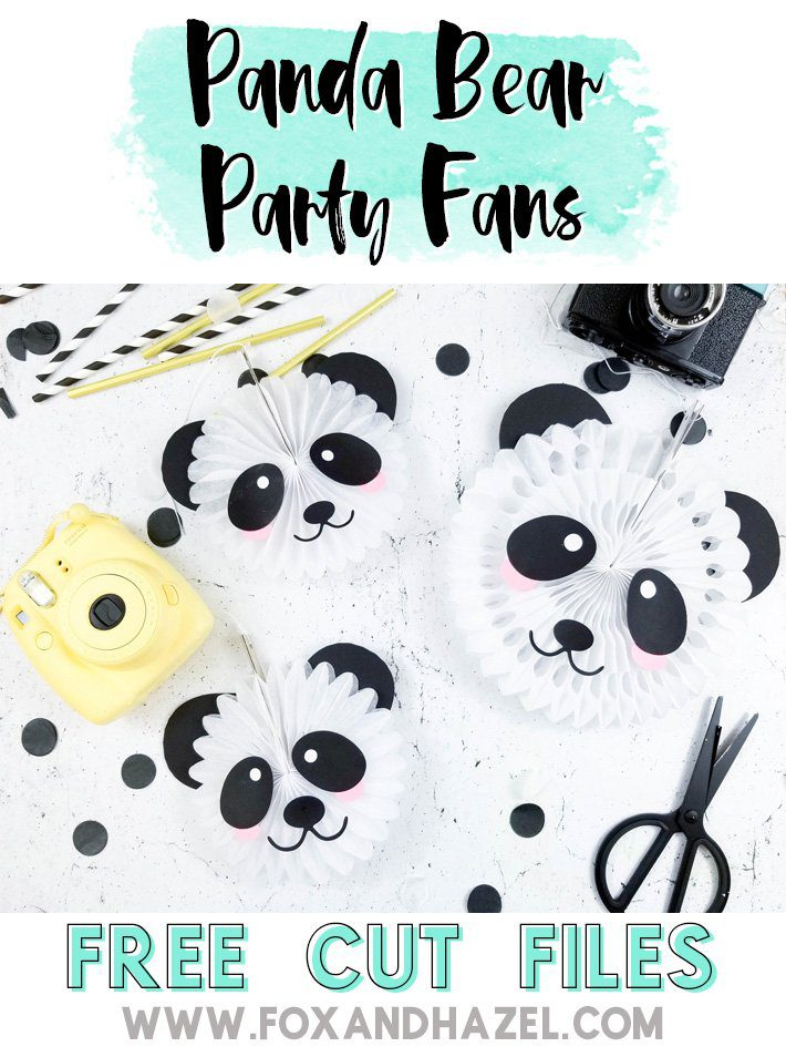Panda Bear Party Fans -Fox + Hazel -Pinterest-Short