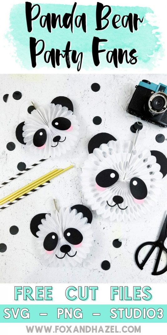 Panda Bear Party Fans -Fox + Hazel -Pinterest