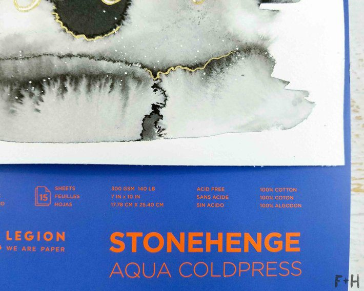 Stonehenge Aqua Watercolor Paper Review - Fox + Hazel