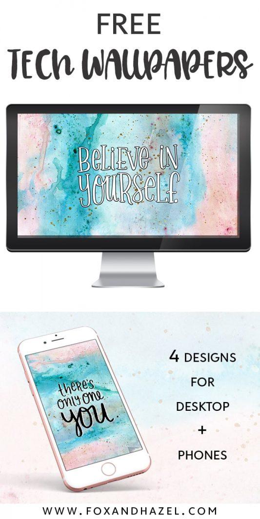 Free Motivational Desktop Wallpaper - Fox + Hazel - Pinterest