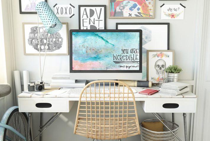Free Motivational Desktop Wallpaper - Fox + Hazel