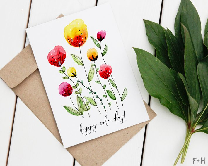Free Printable Watercolor Birthday Cards