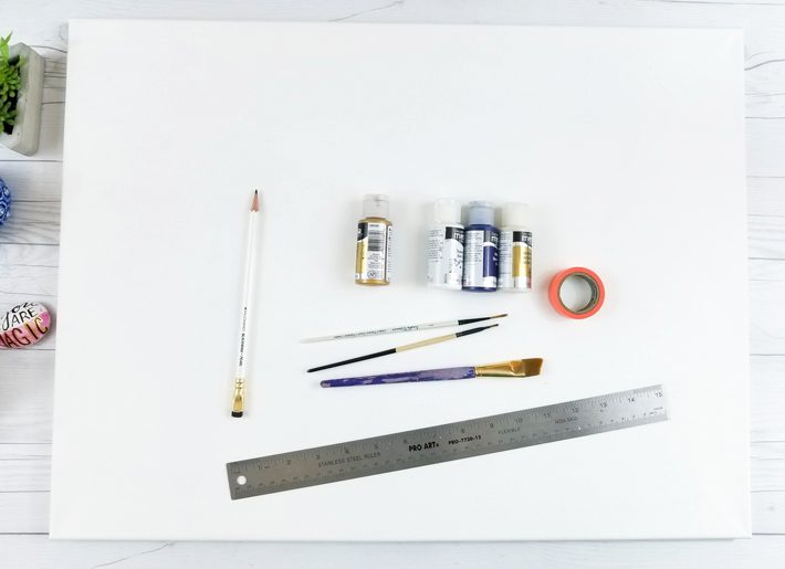 Geometric Canvas Art Diy - Fox + Hazel 1