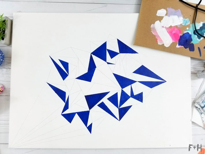 Geometric Canvas Art Diy - Fox + Hazel 8