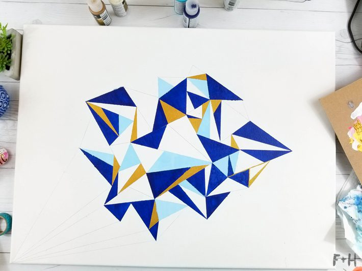 Geometric Canvas Art Diy - Fox + Hazel 12