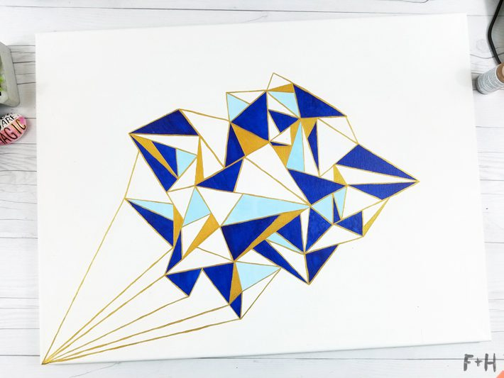 Geometric Canvas Art Diy - Fox + Hazel 20