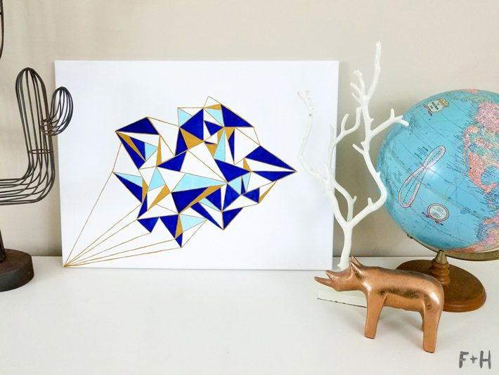 Geometric Canvas Art Diy - Fox + Hazel 20