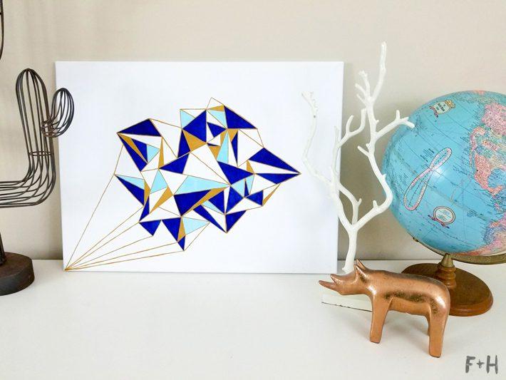 Geometric Canvas Art Diy With Deco Art Media Fox Hazel