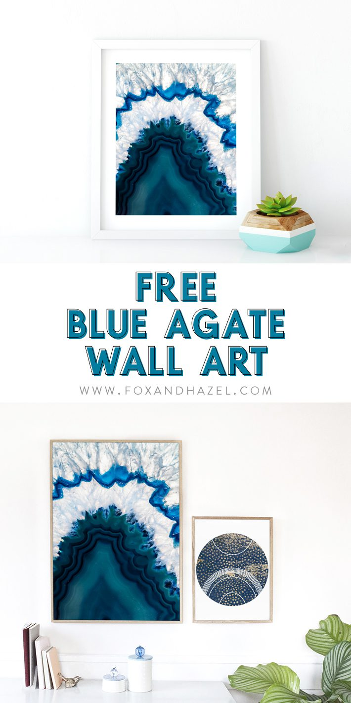 blue agate posters on white walls