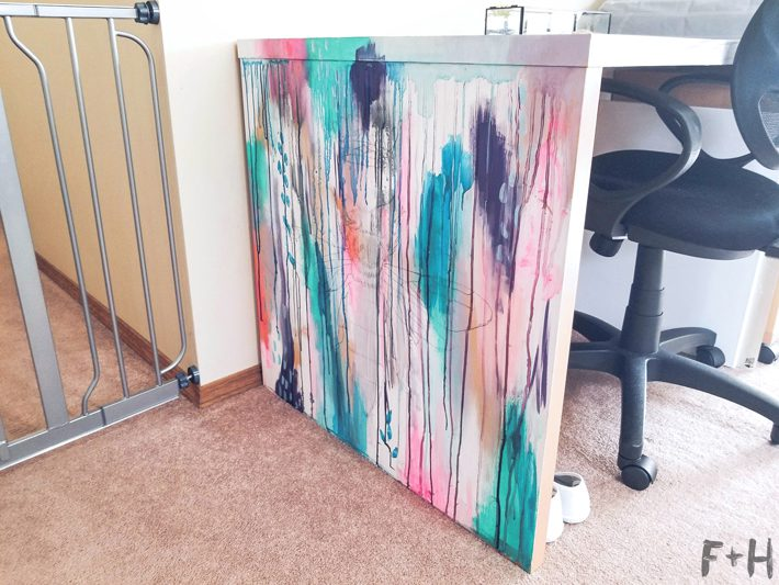 painted side of desk