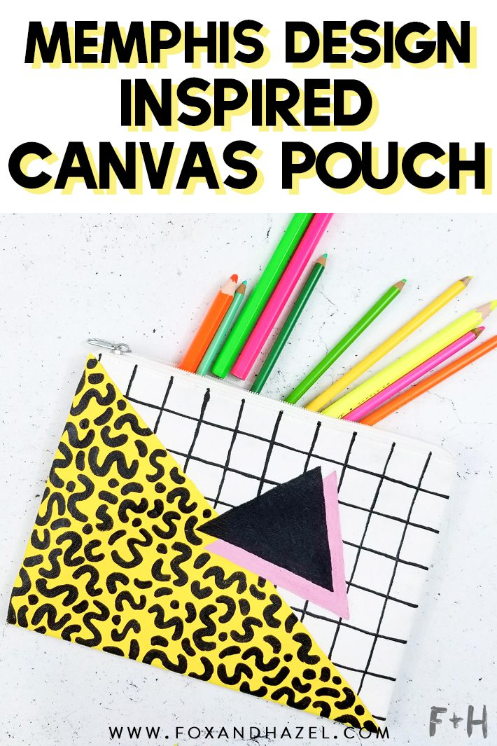 painting on white canvas zipper pouch