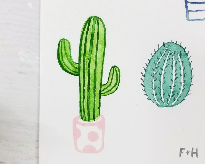 How To Paint A Watercolor Cactus Plus 5 More