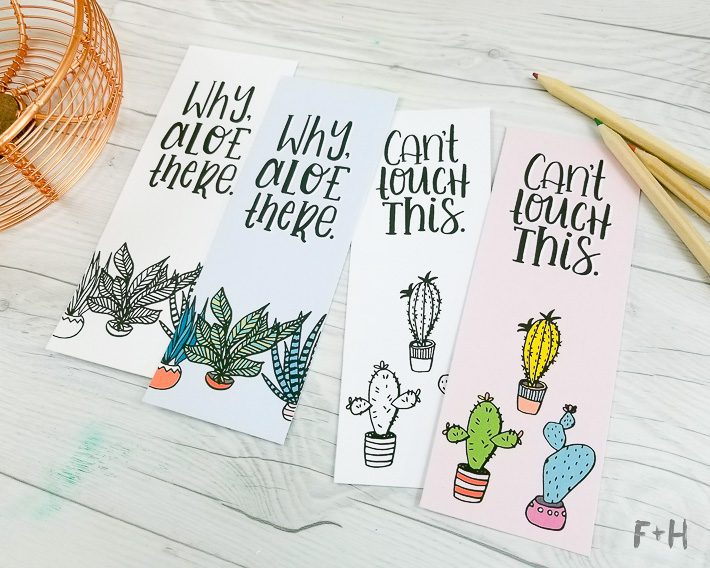2 Free Succulent Adult Coloring Bookmarks | Fox + Hazel