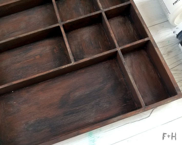 faux letterpress tray