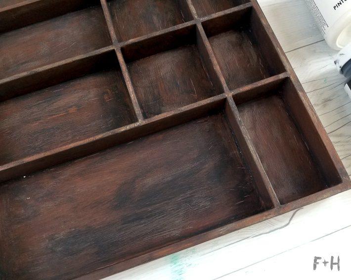 faux letterpress tray