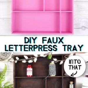 faux letterpress tray diy