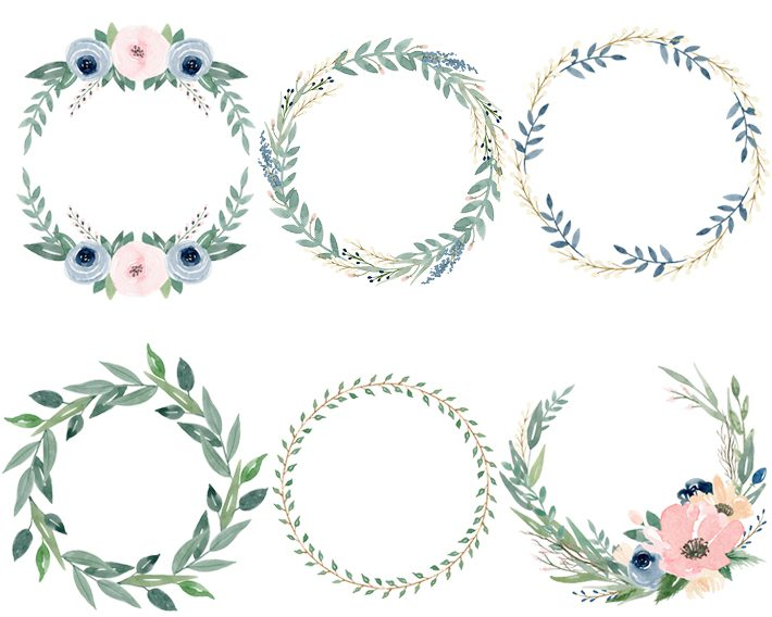 6 Free Beautiful Watercolor Flower Wreaths Fox Hazel