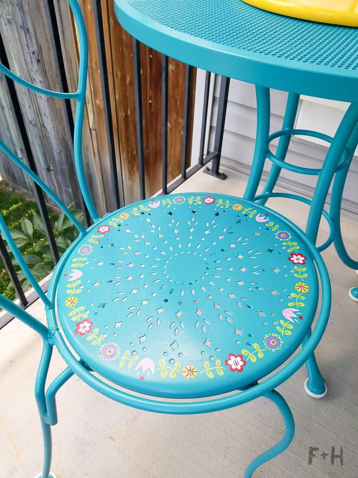 Repainting Metal Patio Furniture with DecoArt! | Fox + Hazel