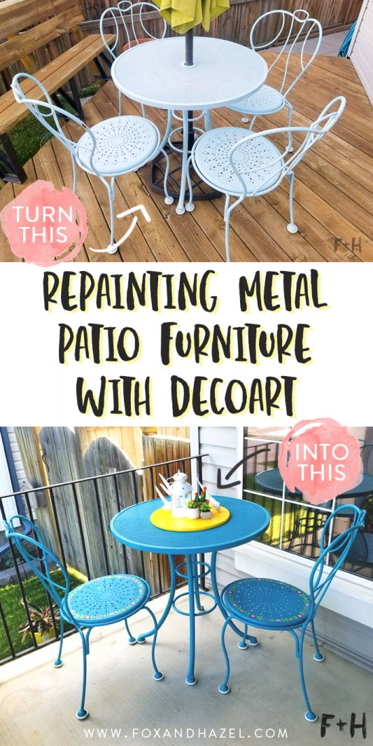 Now That Summer Is Here And We Are Spending More Time Outside, It Was Time  To Update My Old Patio Set. I Got This Patio Set About 8 Years Ago When My  ...