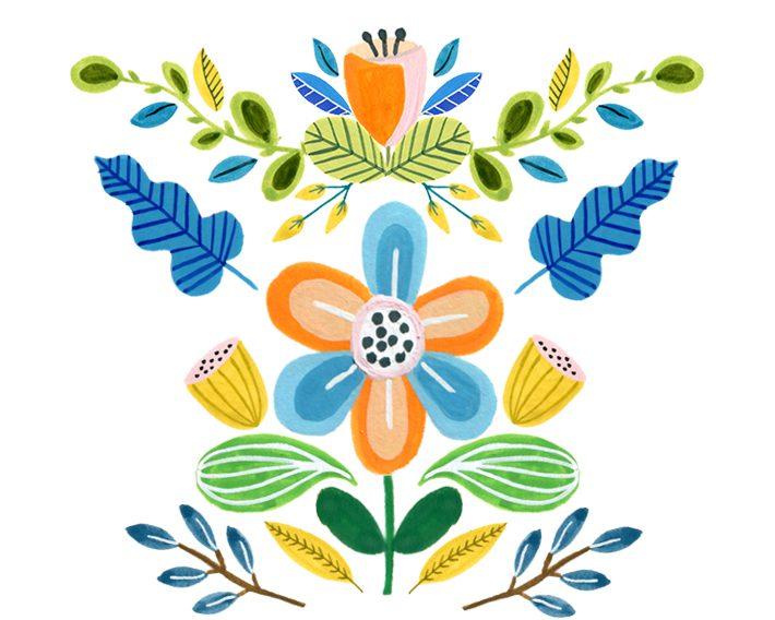 image regarding Free Printable Graphics referred to as Adorable Enjoyable Absolutely free Folks Artwork Flower Graphics! Fox + Hazel