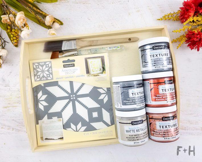 Diy Decorative Wood Tray For Fall Fox Hazel