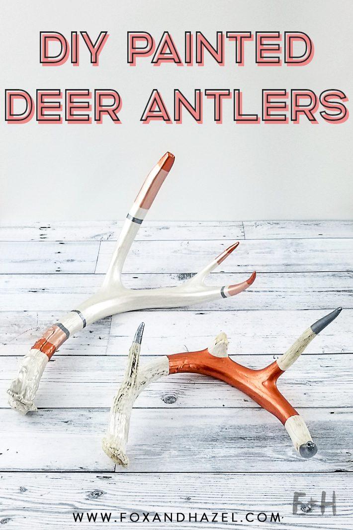 DIY Painted Deer Antler Project | Fox +