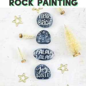 christmas rock painting christmas painted rock