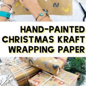 hand-painted kraft wrapping paper