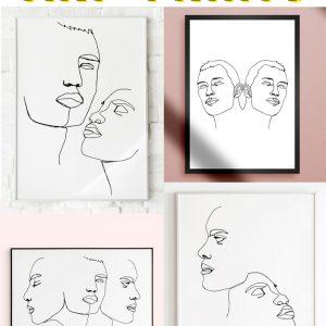 free line art prints